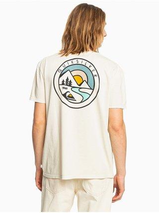 Bílé pánské tričko s potiskem Quiksilver Mountain View
