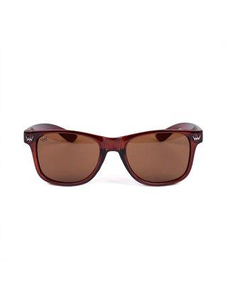 Hnědé unisex sluneční brýle VUCH Brandy