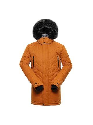 Pánská zimní bunda s membránou ptx ALPINE PRO ICYB 6 hnědá