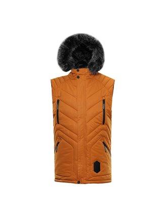 Pánská zimní vesta s membránou ALPINE PRO JARVIS 3 hnědá