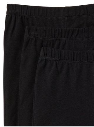 Černé holčičí legíny leggings in stretch jersey, 3ks
