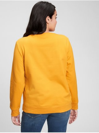 Žlutá dámská mikina Gap Logo Crewneck Sweatshirt