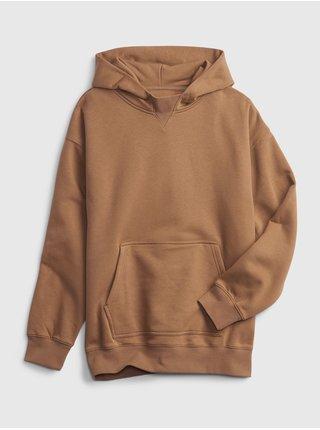 Béžová klučičí mikina teen oversized hoodie