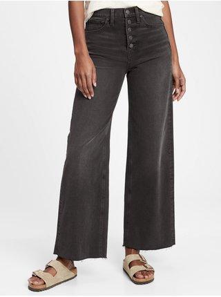 Černé dámské džíny wide leg black fairfax