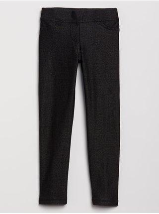 Černé holčičí legíny knit denim leggings