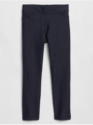 Modré holčičí legíny knit denim leggings