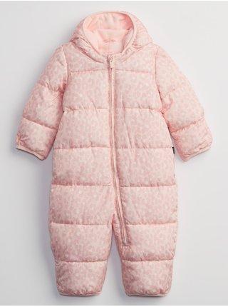 Růžová holčičí bunda coldcontrol max puffer snowsuit