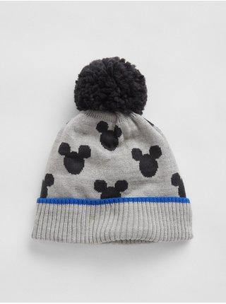 Doplňky - Dětská čepice Disney Mickey Mouse beanie hat Šedá