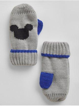 Šedé holčičí rukavice palčáky Mickey