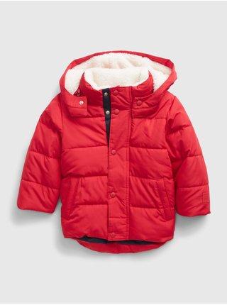 Červená klučičí bunda warmest jacket