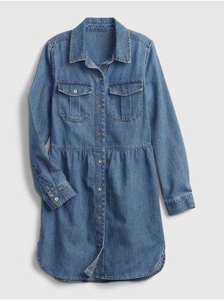 Modré holčičí šaty šaty denim dress