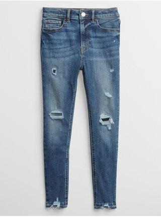 Modré holčičí džíny sky high jeggings