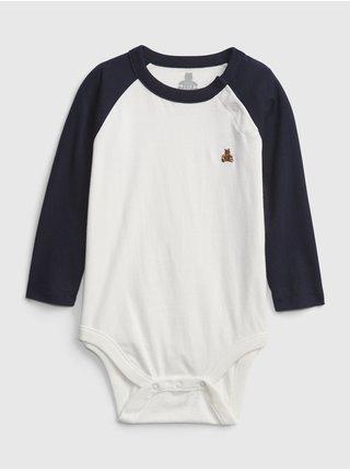 Bílé klučičí body 100% organic bavlna colorblock bodysuit