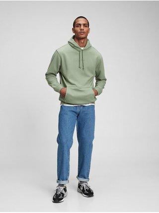 Zelená pánská mikina fleece pocket hoodie