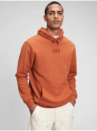 Oranžová pánská mikina GAP Logo fleece pocket hoodie
