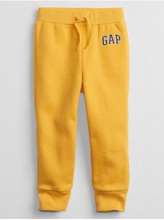 Žluté klučičí tepláky GAP Logo joggers