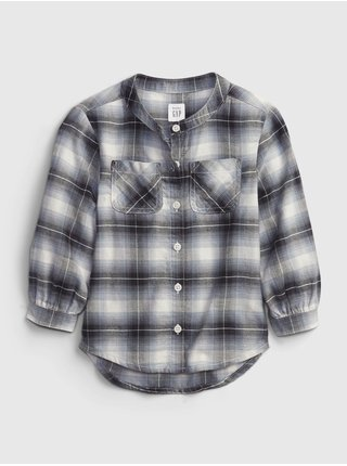 Černá holčičí košile oversized flannel shirt
