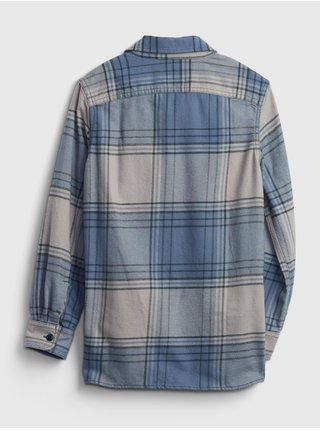 Modrá klučičí košile flanelová kostka