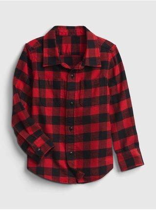 Červená klučičí košile long sleeve flannel