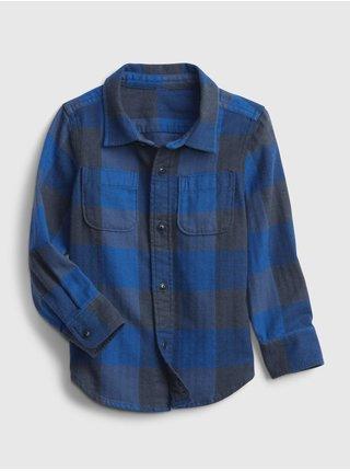 Modrá klučičí košile long sleeve flannel