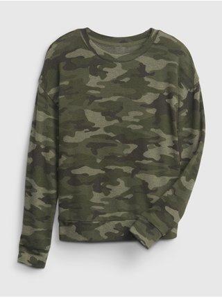 Zelené holčičí tričko snit cross back top