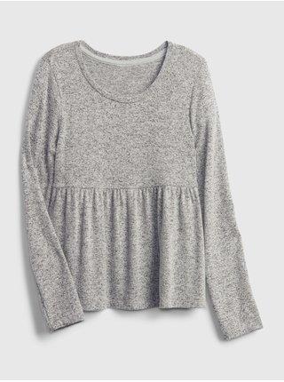 Šedé holčičí tričko snit peplum