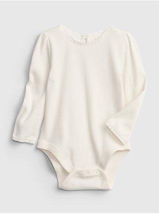 Smetanové holčičí body long sleeve bodysuit