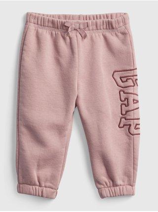 Růžové holčičí tepláky GAP logo