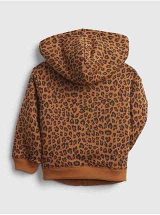 Hnědá holčičí mikina Detská GAP Logo cozy hoodie