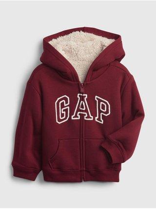 Červená holčičí mikina GAP Logo zip hoodie