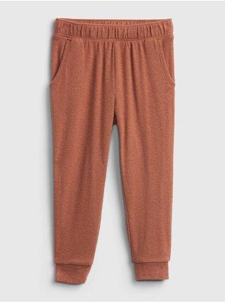Hnědé holčičí kalhoty jogger