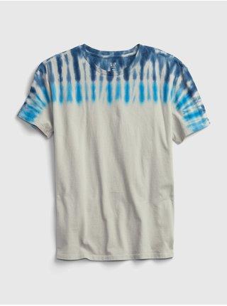 Šedé klučičí tričko batikované