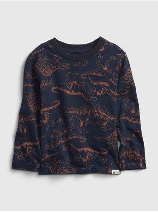 Modré klučičí tričko s dinousary