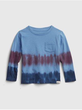 Modré klučičí tričko s batikou