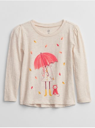 Béžové holčičí tričko graphic t-shirt