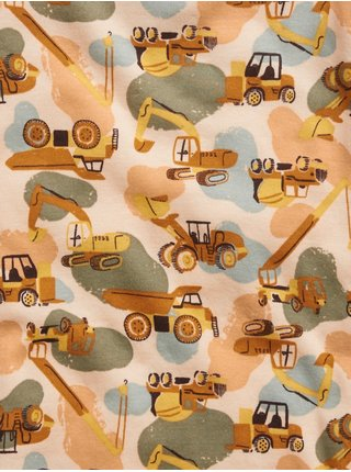 Hnědé klučičí pyžamo s autíčky