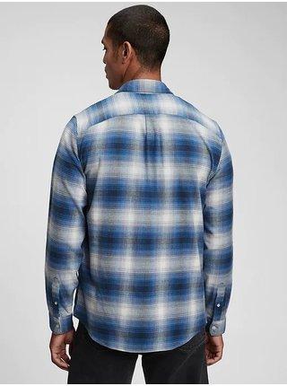 Modrá pánská košile long sleeve brushed twill