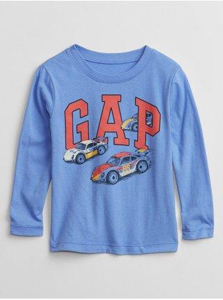 Modré klučičí tričko GAP Logo graphic t-shirt