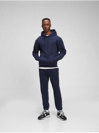 Modré pánské tepláky fleece joggers