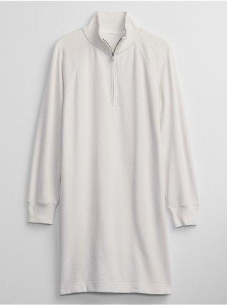 Smetanové dámské šaty sweatshirt dress