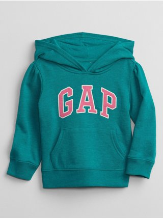 Modrá holčičí mikina GAP Logo pocket hoodie