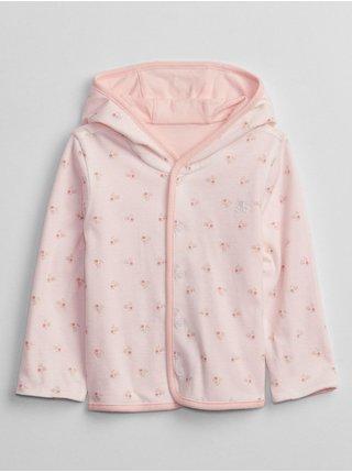 Růžová holčičí mikina long sleeve rev hoodie