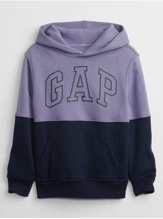 Fialová klučičí mikina GAP Logo hoodie