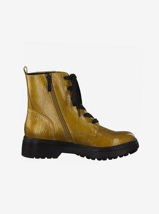 Žluté kotníkové boty Tamaris