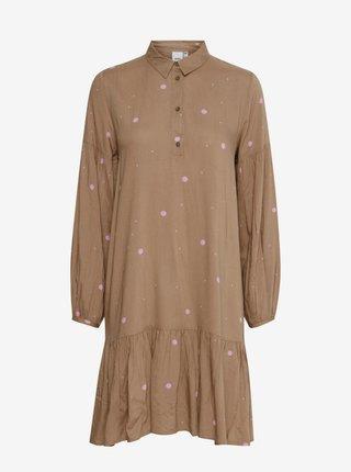 Šaty na denné nosenie pre ženy ICHI - svetlohnedá