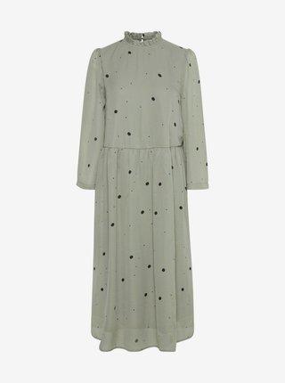 Šaty na denné nosenie pre ženy ICHI - kaki
