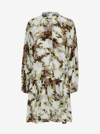 Šaty na denné nosenie pre ženy ICHI - sivá, hnedá