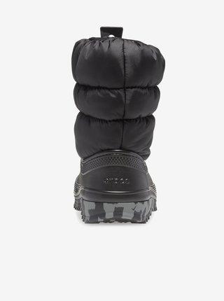 Černé dětské sněhule Crocs