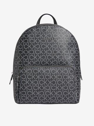 Černý dámský vzorovaný batoh Calvin Klein