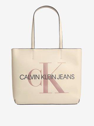 Krémový dámský shopper Calvin Klein